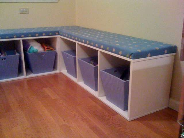 Trofast banquette banquettes ikea hackers and toy storage - Toy shelves ikea ...