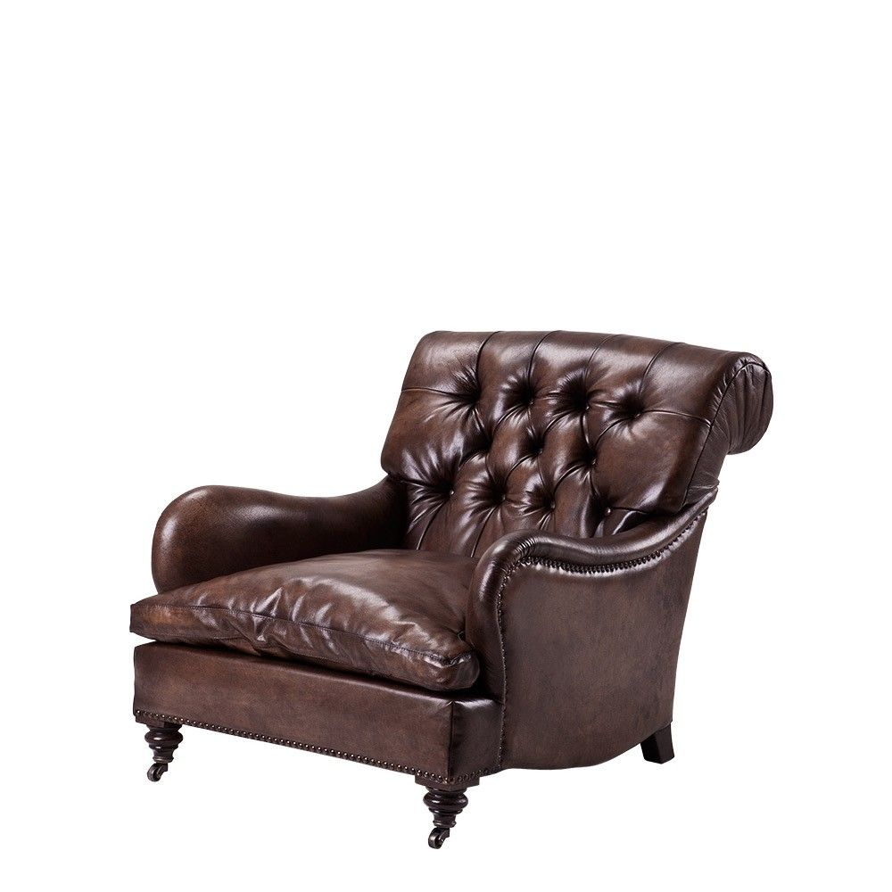 Eichholtz Caledonian Club Chair   TS Rich Leather | Occa Home UK