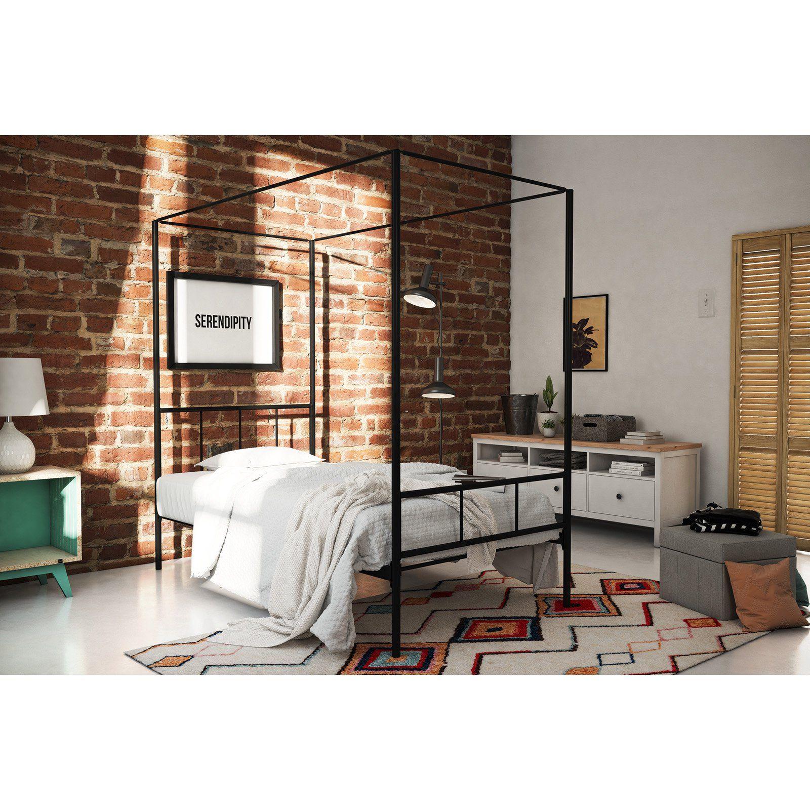 Novogratz Marion Canopy Platform Bed Canopy Bed Frame Bed Frame