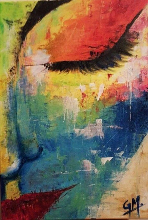 artistic abstract painting ideas for beginners abstractart abstrakte malerei abstrakt bild berge gesicht malen