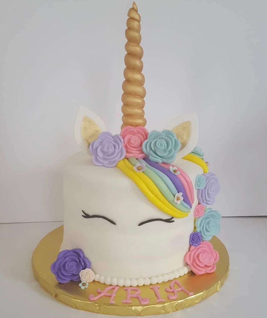 Made this unicorn Birthday cake for a 4 year olds unicorn