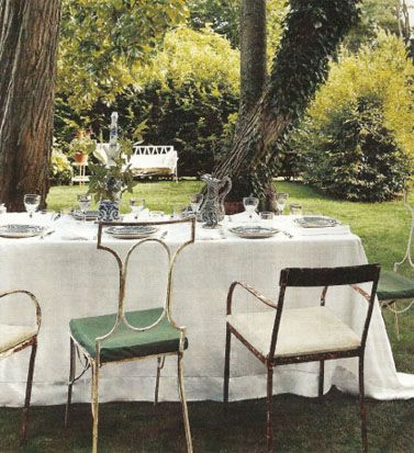 Lovely outdoor table scape