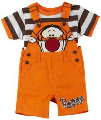 NEW Disney Baby Boy Mickey Pooh Tigger Shortall Shorts Set