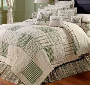 Meadowsedge Quilt By Nancy S Nook For Victorian Heart Meadowsedge Features A Palette Of Ecru And M Country Bedding Sets King Quilt Bedding Quilt Sets Bedding
