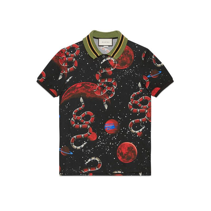 52997f5adb5 GUCCI SPACE SNAKE PRINT POLO.  gucci  cloth