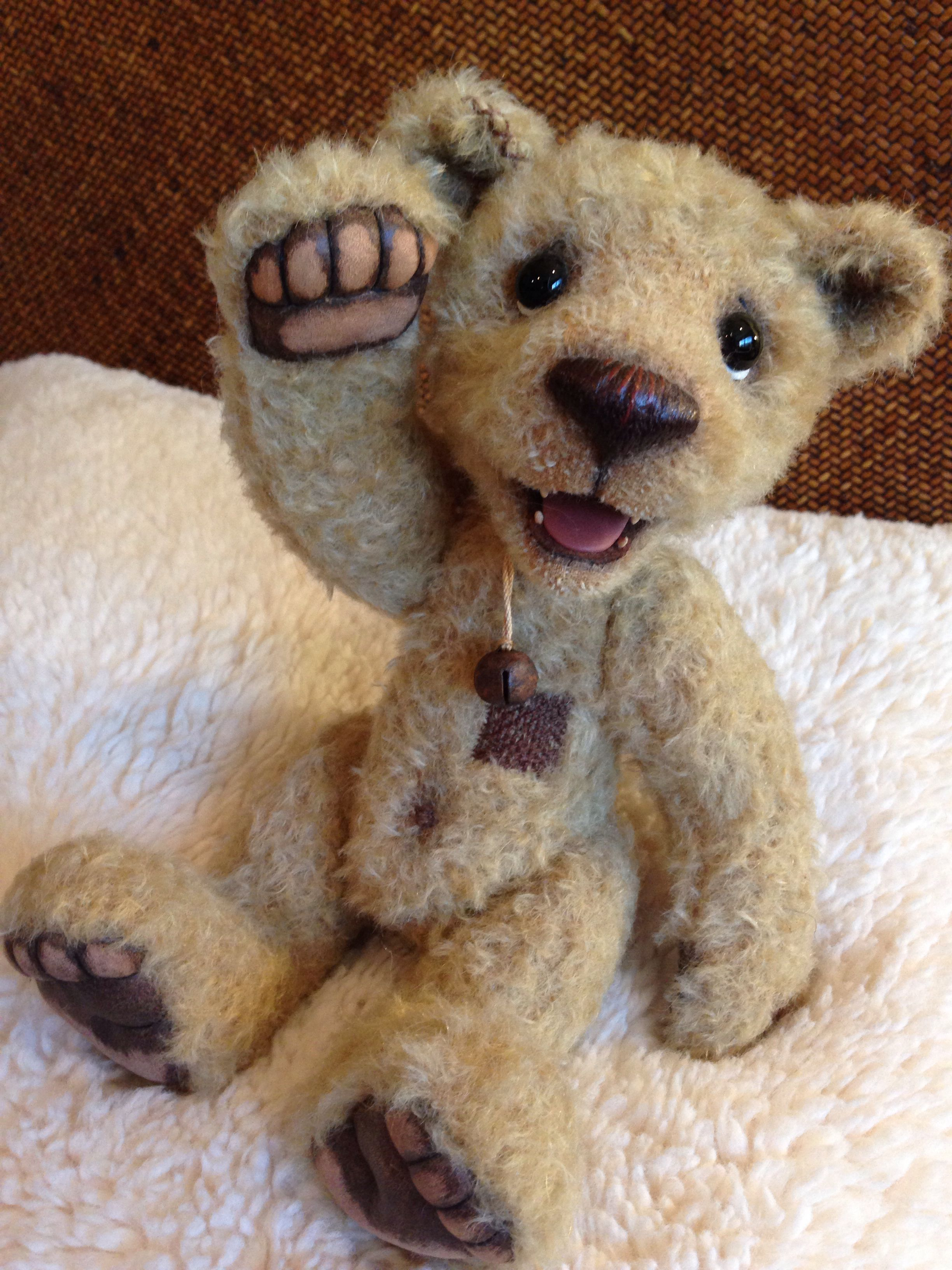 zarroc by monika stein love his lil teeth teddy bear love