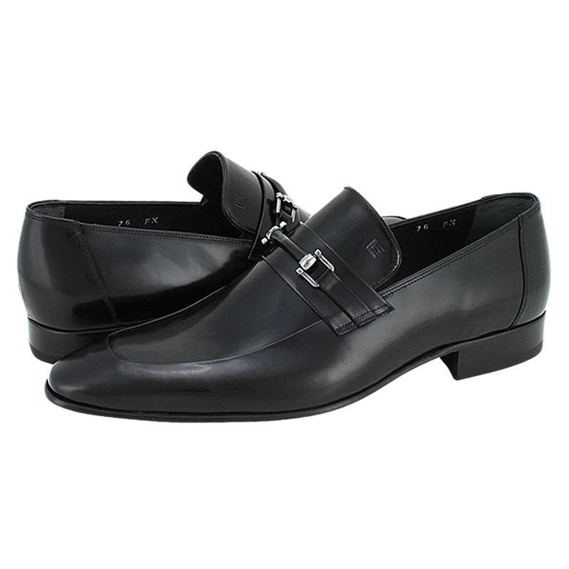 Guy Laroche Men's shoes made of semi patent leather with leather lining and  leather outsole.