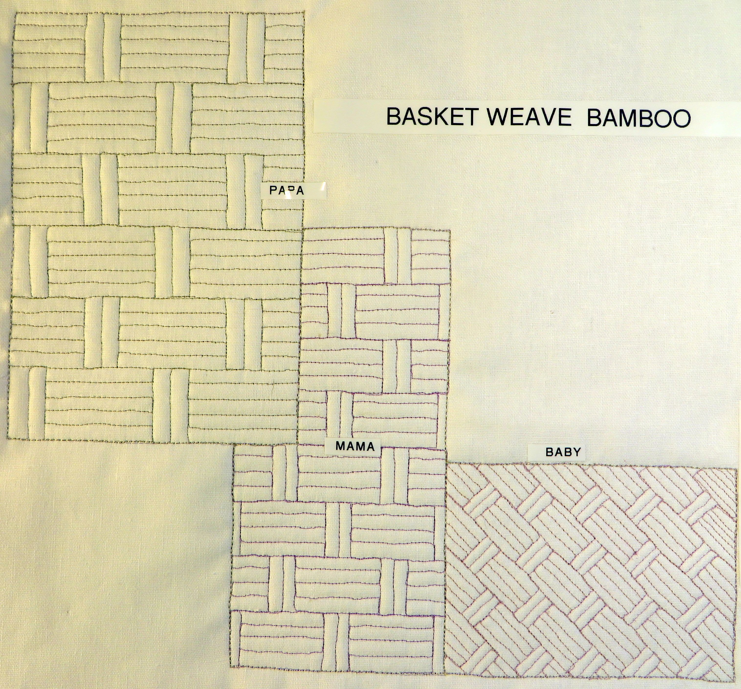Youtube Sample Showing How To Create A Basket Weave Or