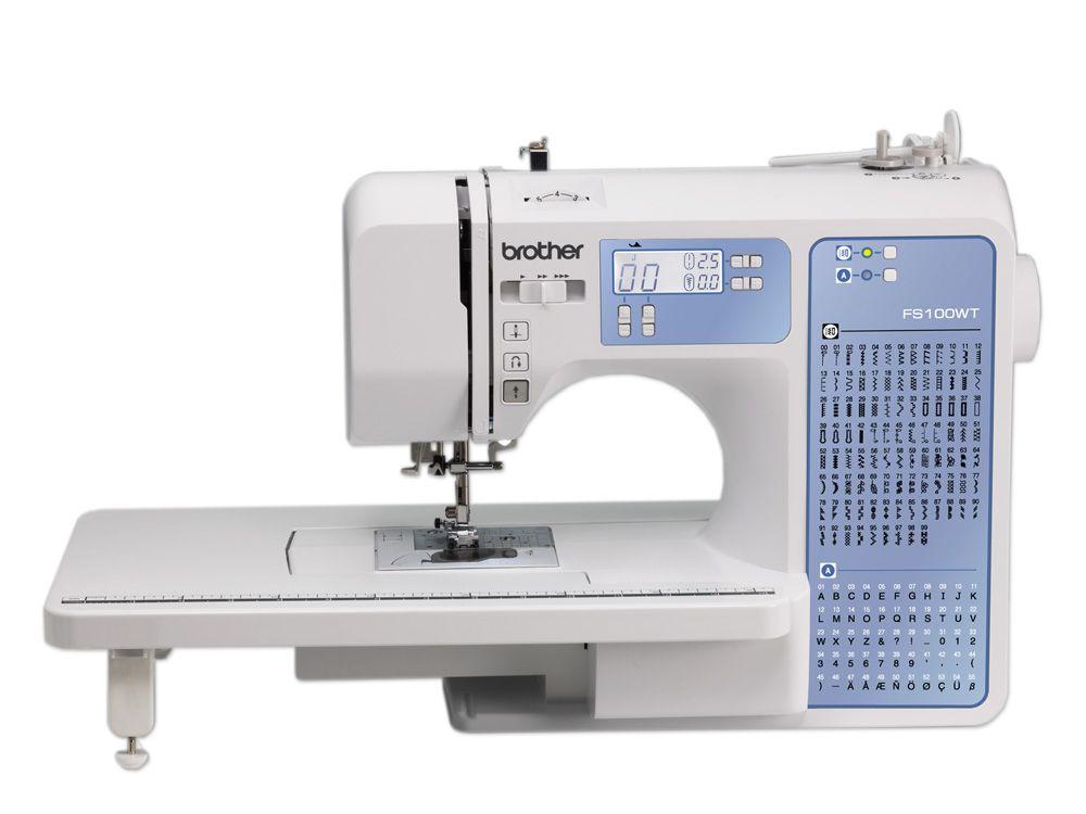 Máquina de coser Brother FS100WT - Mesa de extensión incluida ...