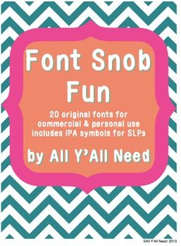 "We admit we are font snobs.  Here are 20 fonts you just might ""have"" to own."