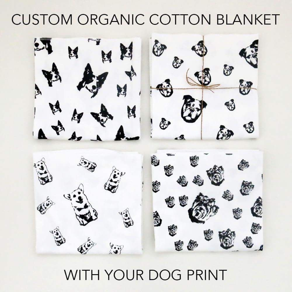 Now you can get personalised organic cotton baby blankets with now you can get personalised organic cotton baby blankets with your dog prints ok negle Image collections