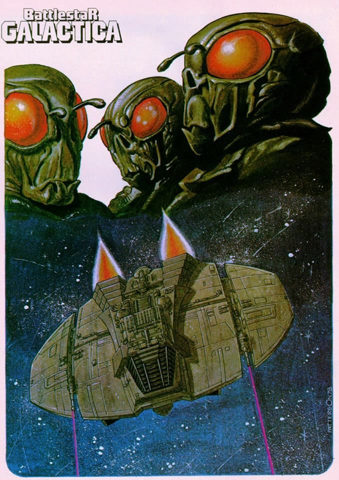 From Marvel Super Special #8: Battlestar Galactica (1978) ~Art by Bruce Patterson (1978)