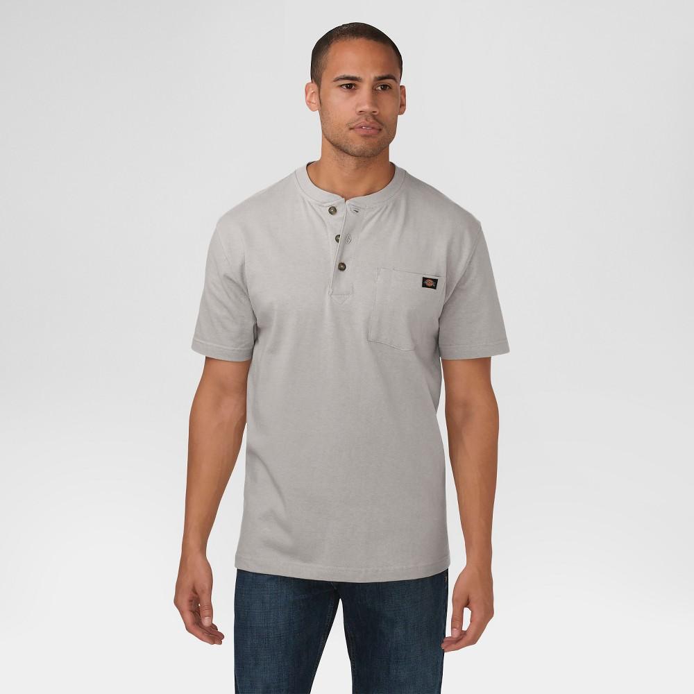 6b6fac4654b4 Dickies Men's Big & Tall Cotton Heavyweight Short Sleeve Pocket Henley Shirt-  Heather Gray Xxl Tall