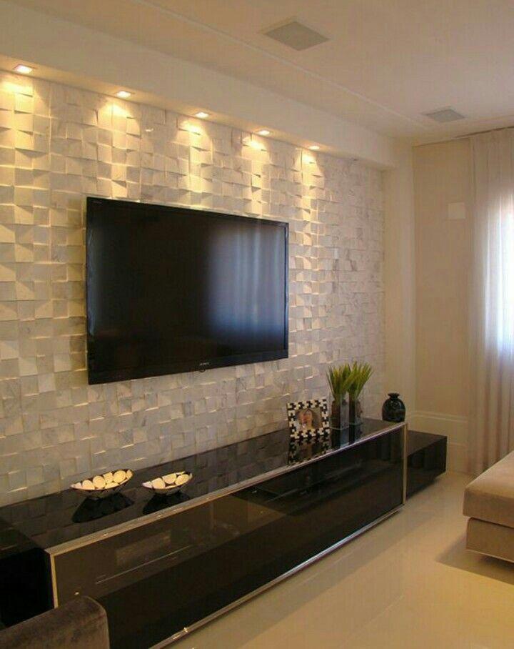 decoraci sala decor pinterest wohnzimmer fernseher. Black Bedroom Furniture Sets. Home Design Ideas