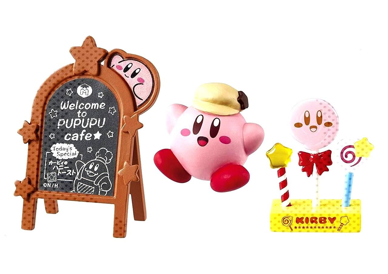 Re-ment released a set of miniature Kirby figures based on the real-life Kirby Cafe in Japan -