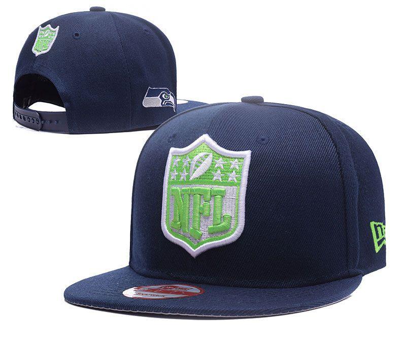 buy popular 35e2e 5c903 Men s Seattle Seahawks New Era NFL Team Shield Logo Embroidery 9FIFTY  Snapback Cap - Navy