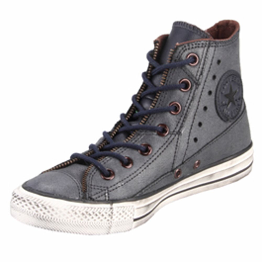 5840694d7ae5cd  104.99 Converse Chuck Taylor 132415C Leather Motorcycle Jacket Dark Navy Hi  Top