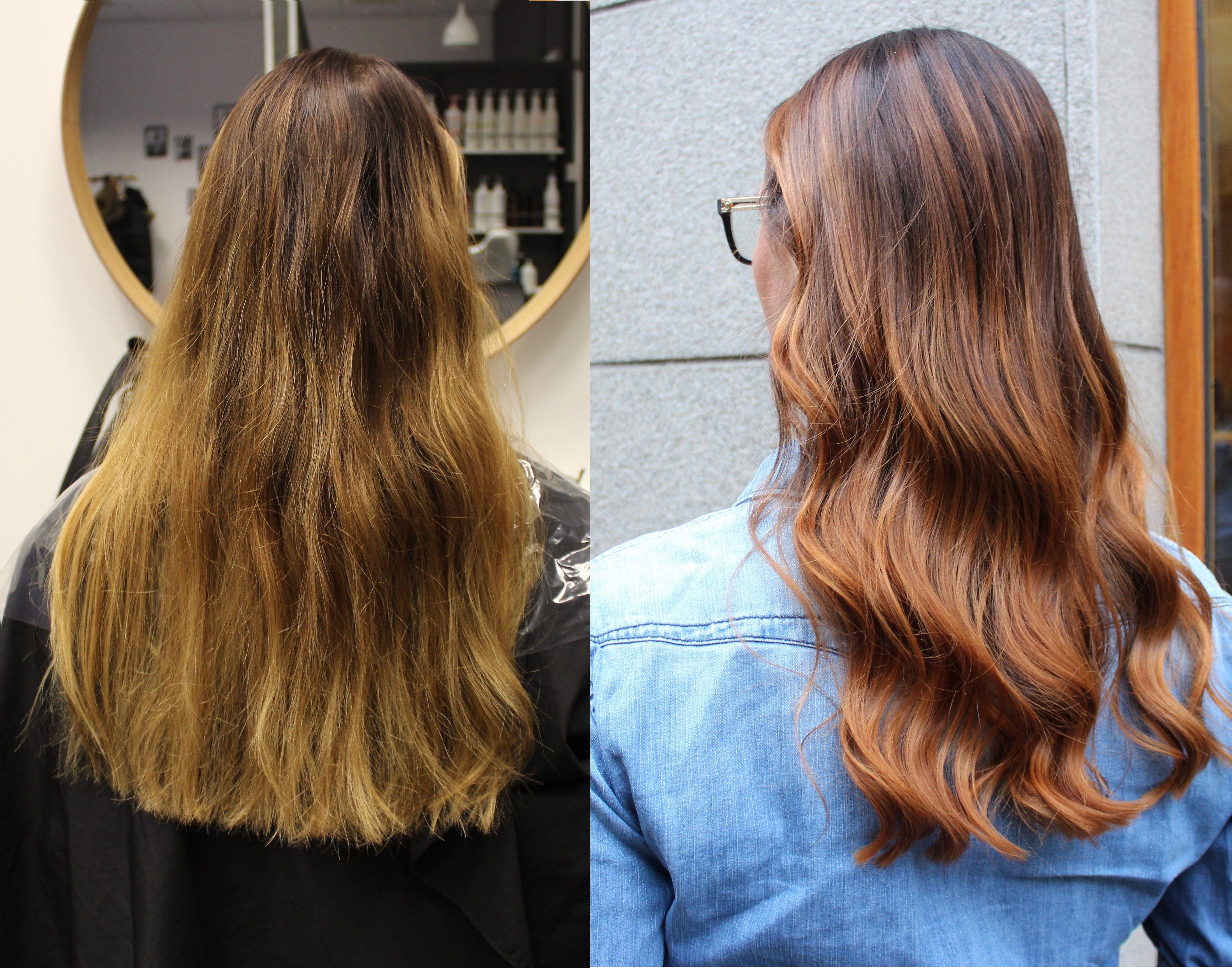 få bort röda pigment i håret
