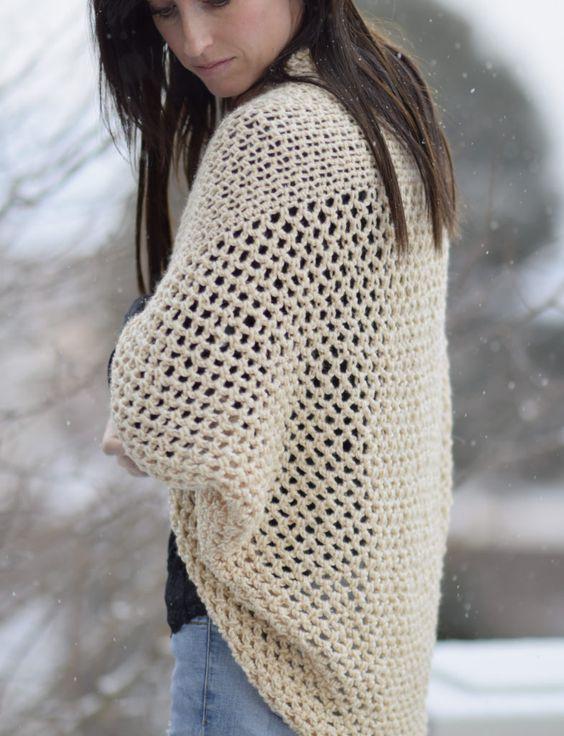 Mod Mesh Honey Blanket Sweater   Pinterest   Ganchillo, Suéteres y ...