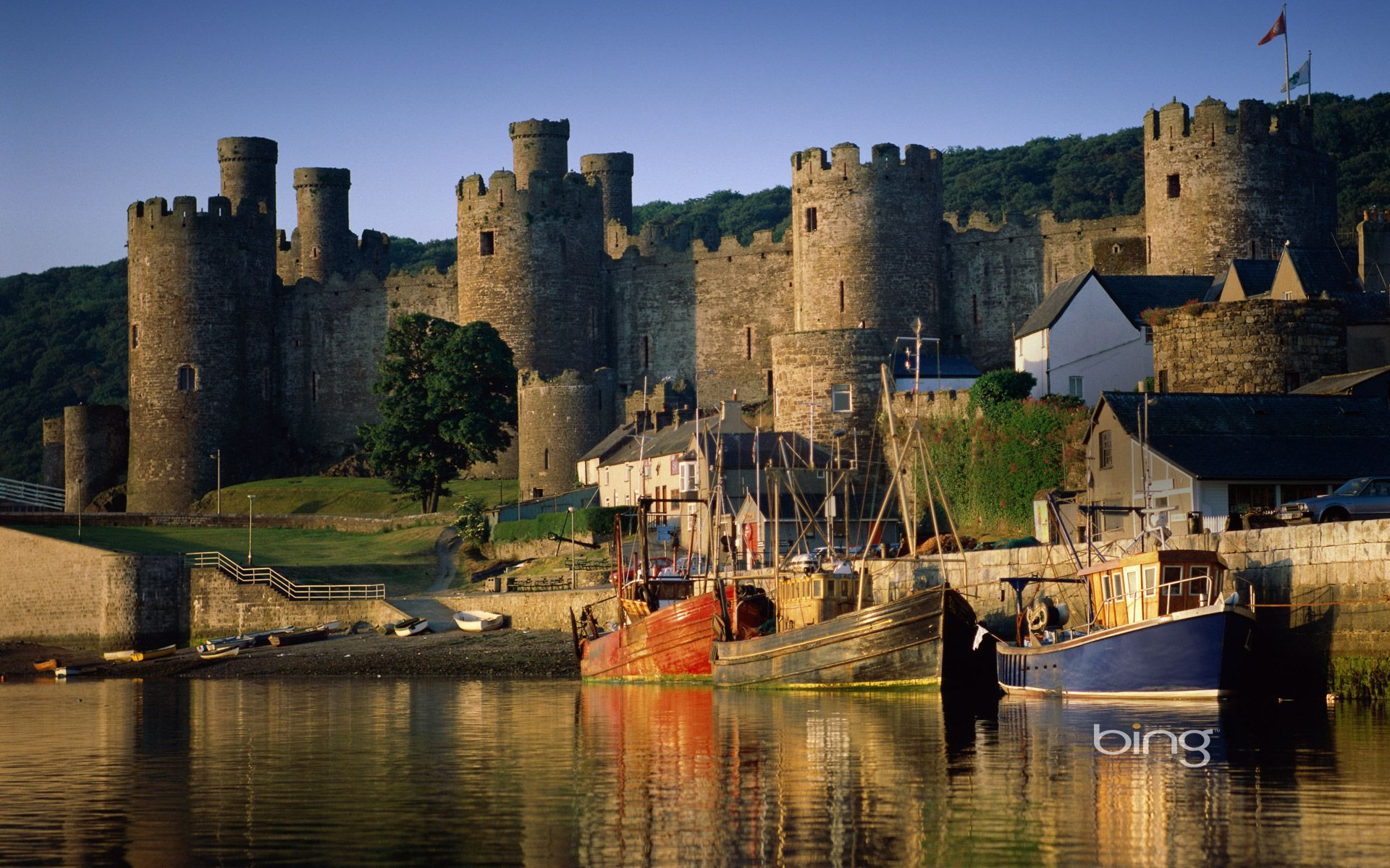 bing image collection windows bing conwy castle wallpaper ace