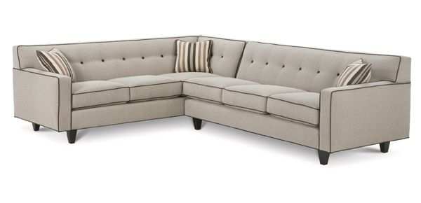 Rowe Collections Sectionals Dorset Sectional Mid Century