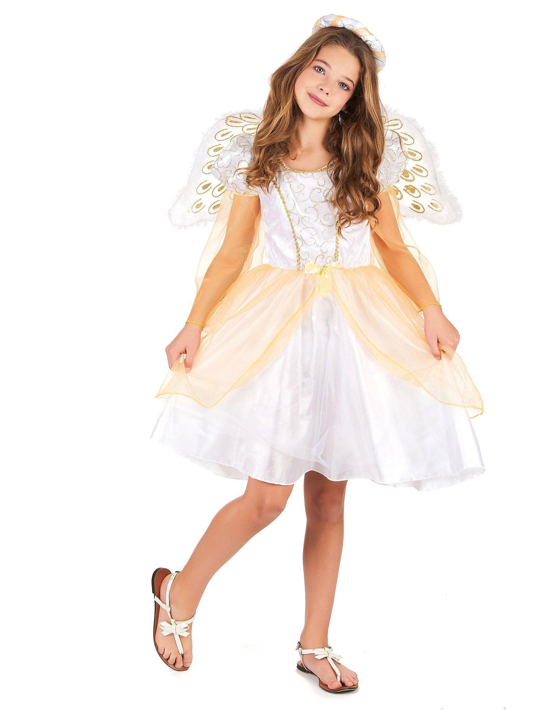 7a2d3bafa Disfraz de ángel para niña   ANGELES   Girls angel costume ...