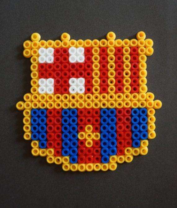 Barça Hama Beads Magnet By Alabauhaus Pärlplattor Hama Beads