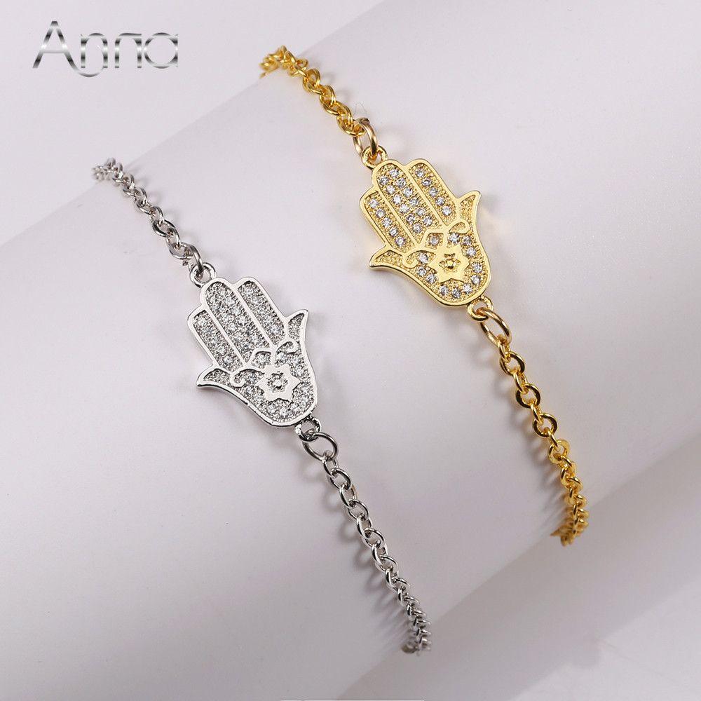 Aun hamasa hand copper alloy bracelets u bangles handmade healing
