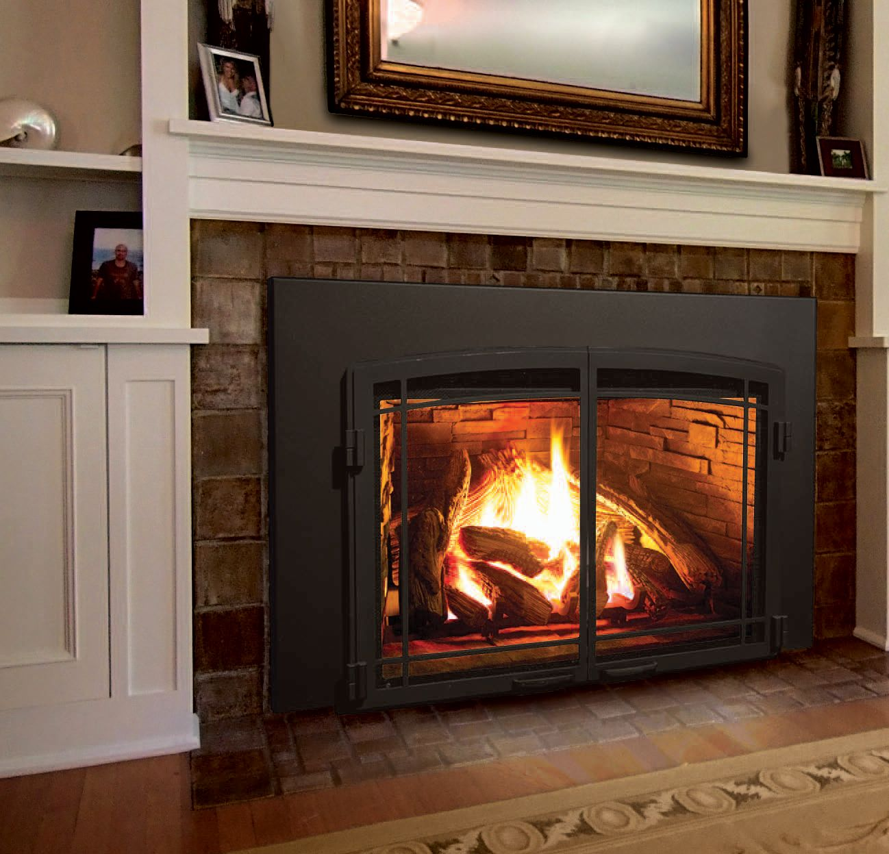 The Enviro E44 Gas Fireplace Insert Fireplace Living Room With