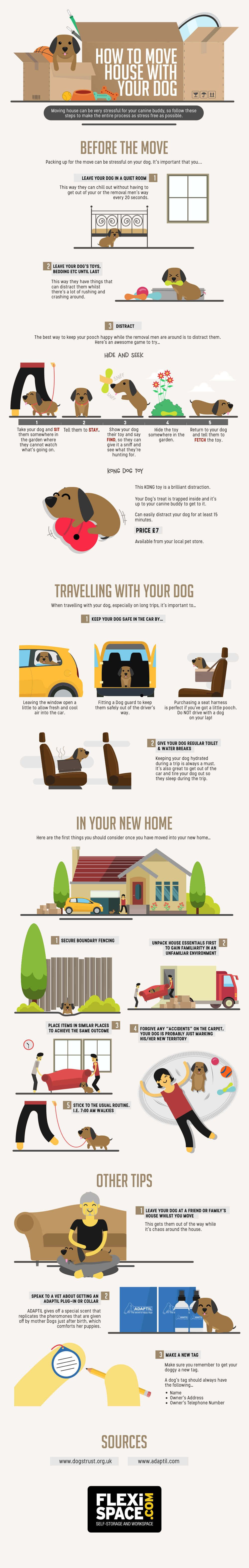 How To Move House With Your Dog #Infographic