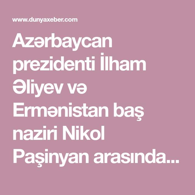 Azərbaycan Prezidenti Ilham əliyev Və Ermənistan Bas Naziri Nikol Pasinyan Arasinda Munhen Təhlukəsizlik Konfransinda Bas Tutan Debat Hələ Də Muz Horoshee Pitanie