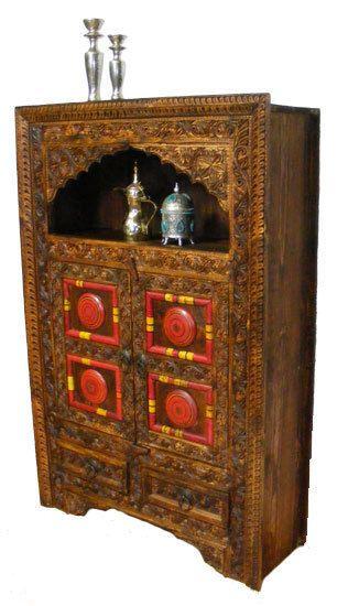 Details Zu Antik Look Orient Wohnzimmerschrank Schrank Afghanistan