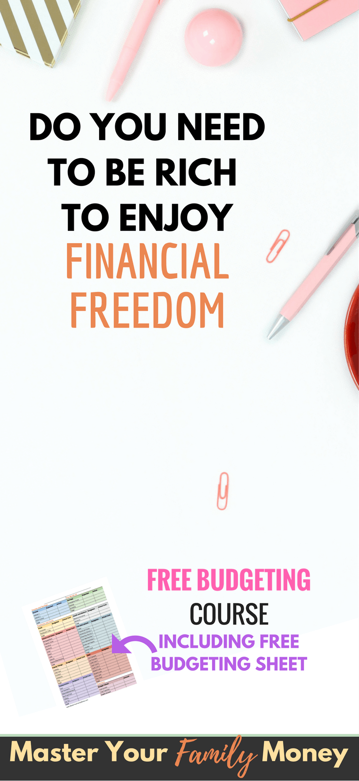 you don't need to be rich to enjoy financial freedom | money and