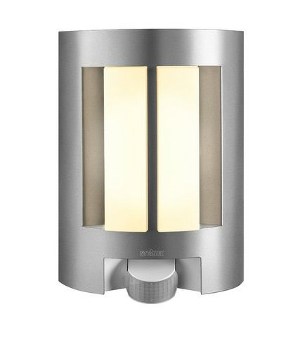 Steinel L11 Pir Wall Sensor Light In Silver 163 44 Lighting