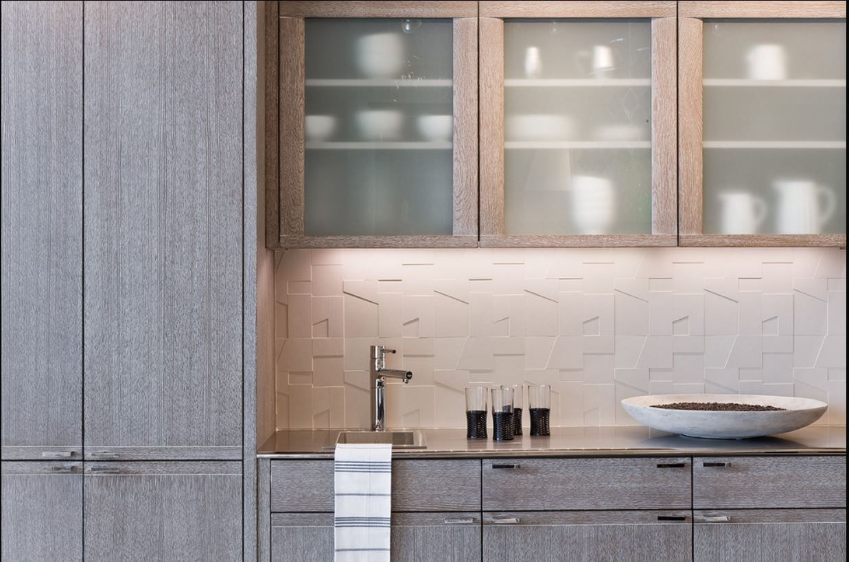 Limed Oak Kitchen Cabinets _ Pickled Oak Cabinets In A Kitchen By Venegas  And Company Via