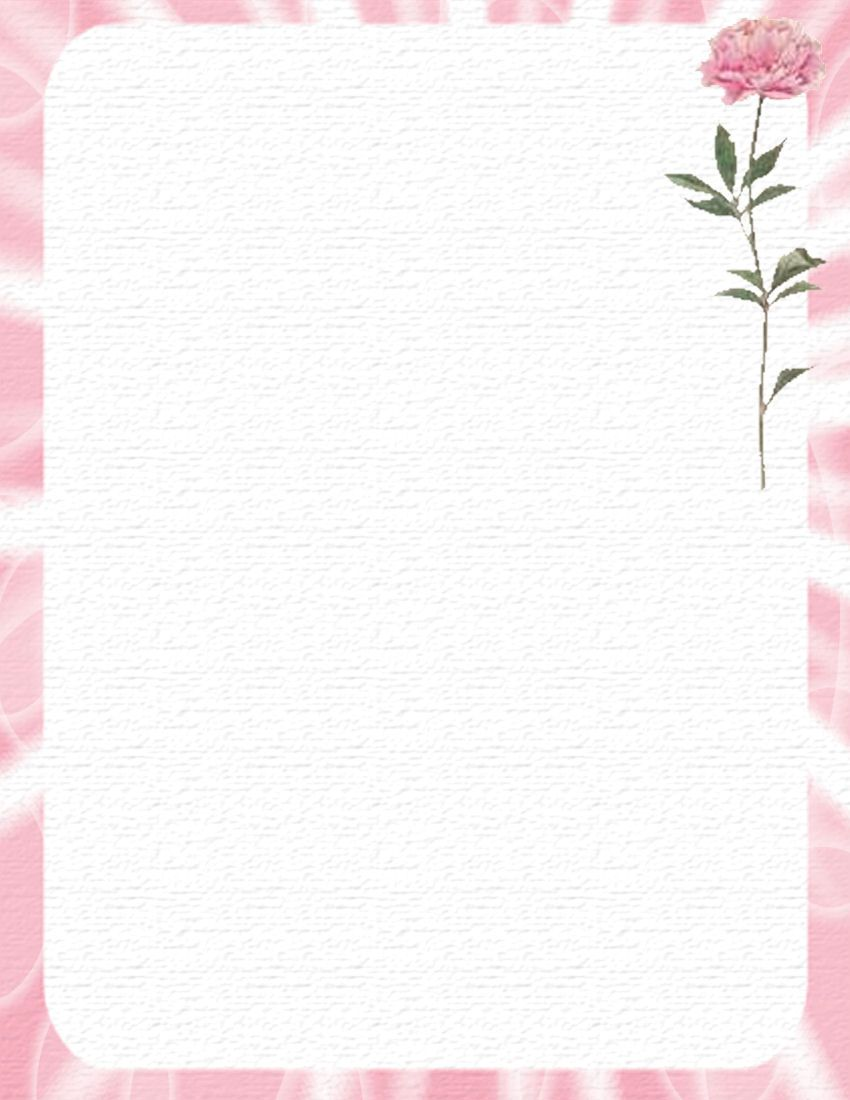 flower border stationery paper designs | floral 631 floral ...