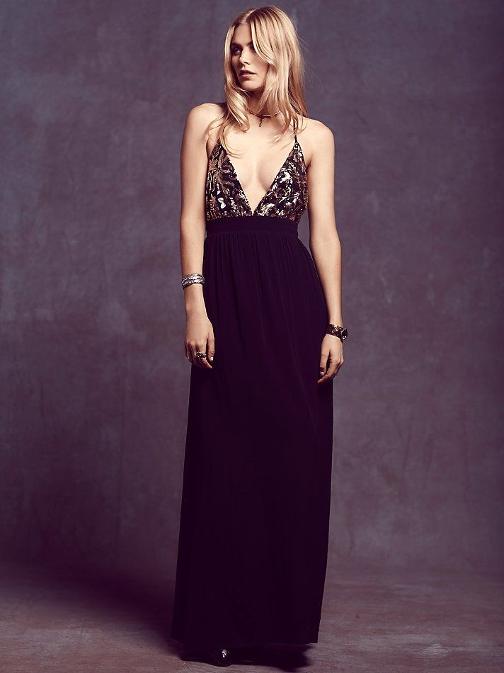 Lovers + Friends Good as Gold Maxi at Free People Clothing Boutique ...