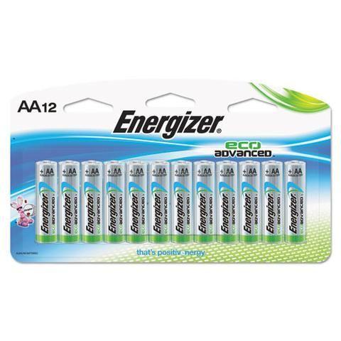 Energizer Ecoadvanced Aa Batteries 039800123947 Energizer Eco Friendly Office Batteries