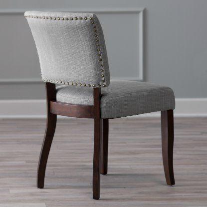 Belham Living Paige Open Back Dining Chair Brown Herringbone Set Of 2