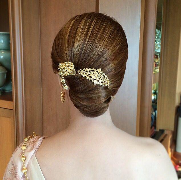 Thai Wedding Hairstyle Cr Nongchat Wedding Gaya Rambut