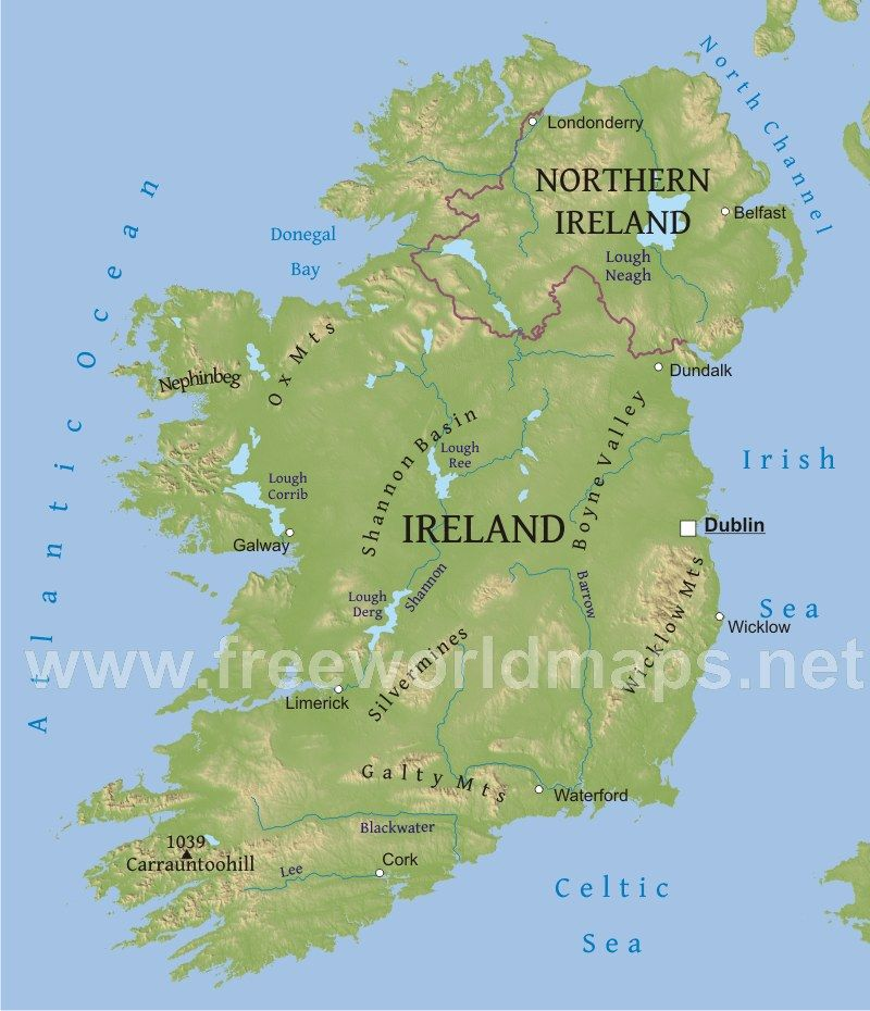 Map Of Ireland With Rivers.Image Result For Map Of Ireland Rivers And Mountains Geography