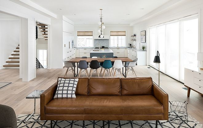 Bright Interiors Mid Century Leather Sofa Modern Farmhouse ...