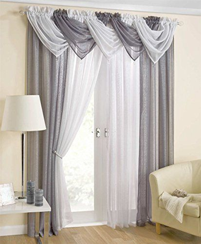 Casablanca Plain Grey Swag Sparkle Glitter Bling Pelmet S Https Www Amazon Co Uk Dp B01h2t9tsu Ref C Living Room Drapes Curtains Living Room Curtain Decor