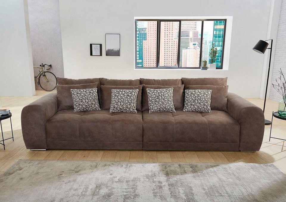 Jockenhofer Gruppe Big Sofa Ab 699 99 Big Sofa Inklusive Loser Rucken Und Armlehnkissen Schone Steppungen In Der Sitzflac Grosse Sofas Sofa Big Sofa Kaufen