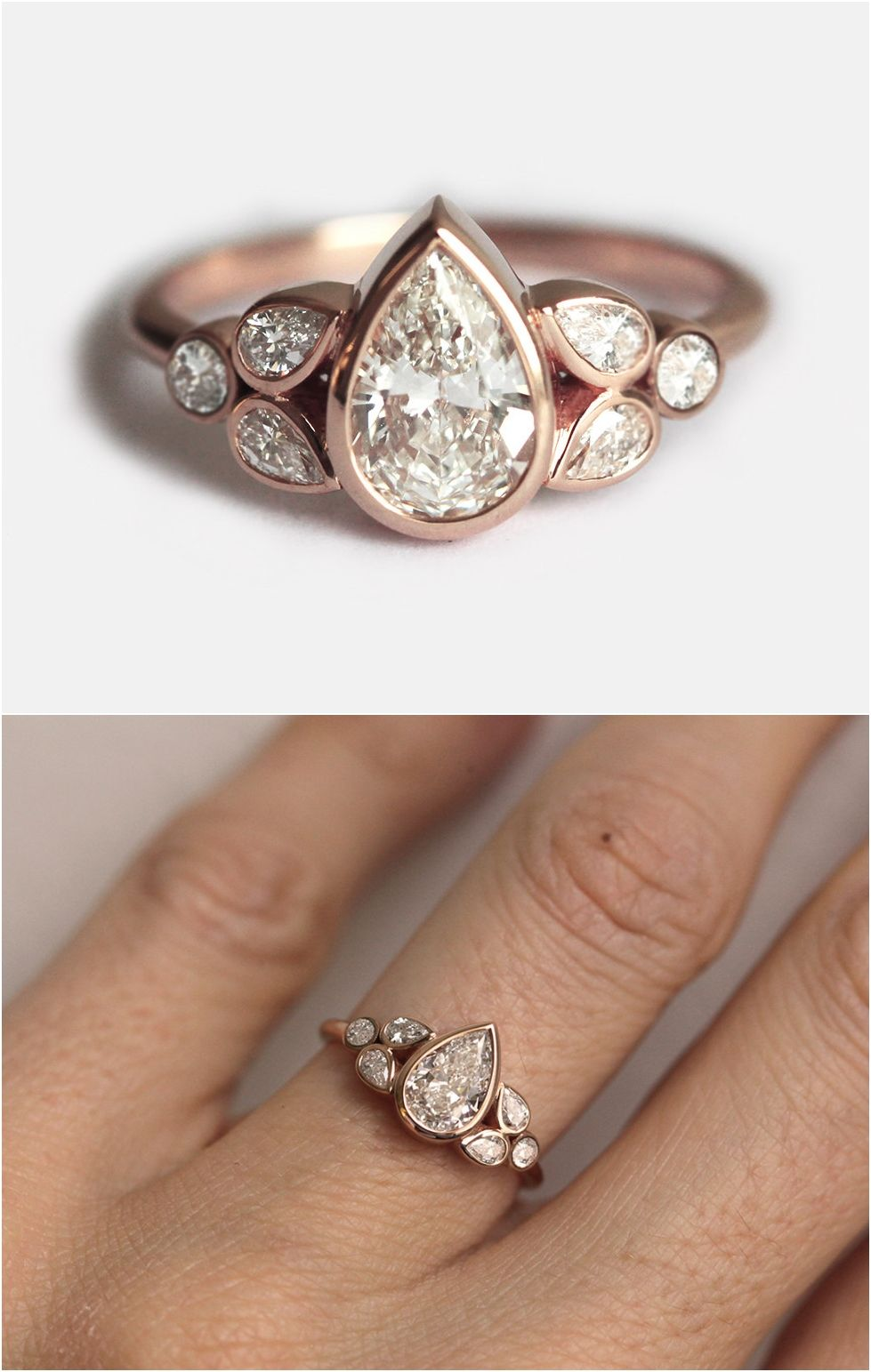 One carat engagement diamond ring pear diamond ring pear diamond