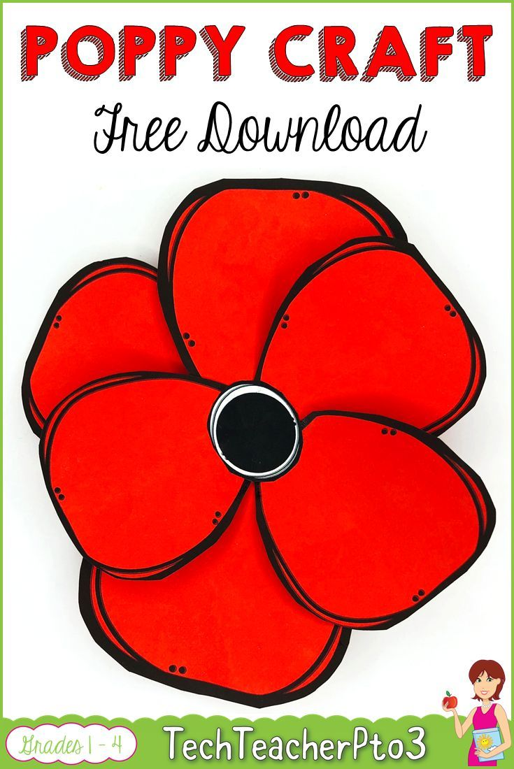 Poppy Craft ANZAC Remembrance Veterans Day FREE DOWNLOAD #veteransdayartprojects