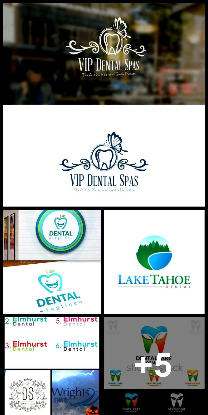 Happy Dental Logo - vector EPS design #identity #fresh • Available here → Graphics ... #dentallogo