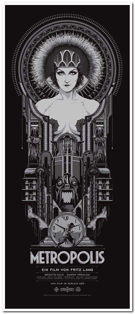 Metropolis 4  Poster Greatest Movies Classic /& Vintage Films