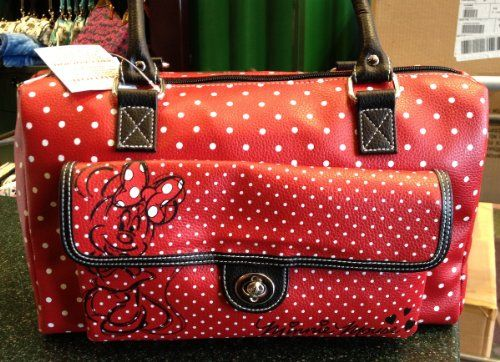 Disney Minnie Mouse Red White Dot Handbag Purse « Clothing Impulse