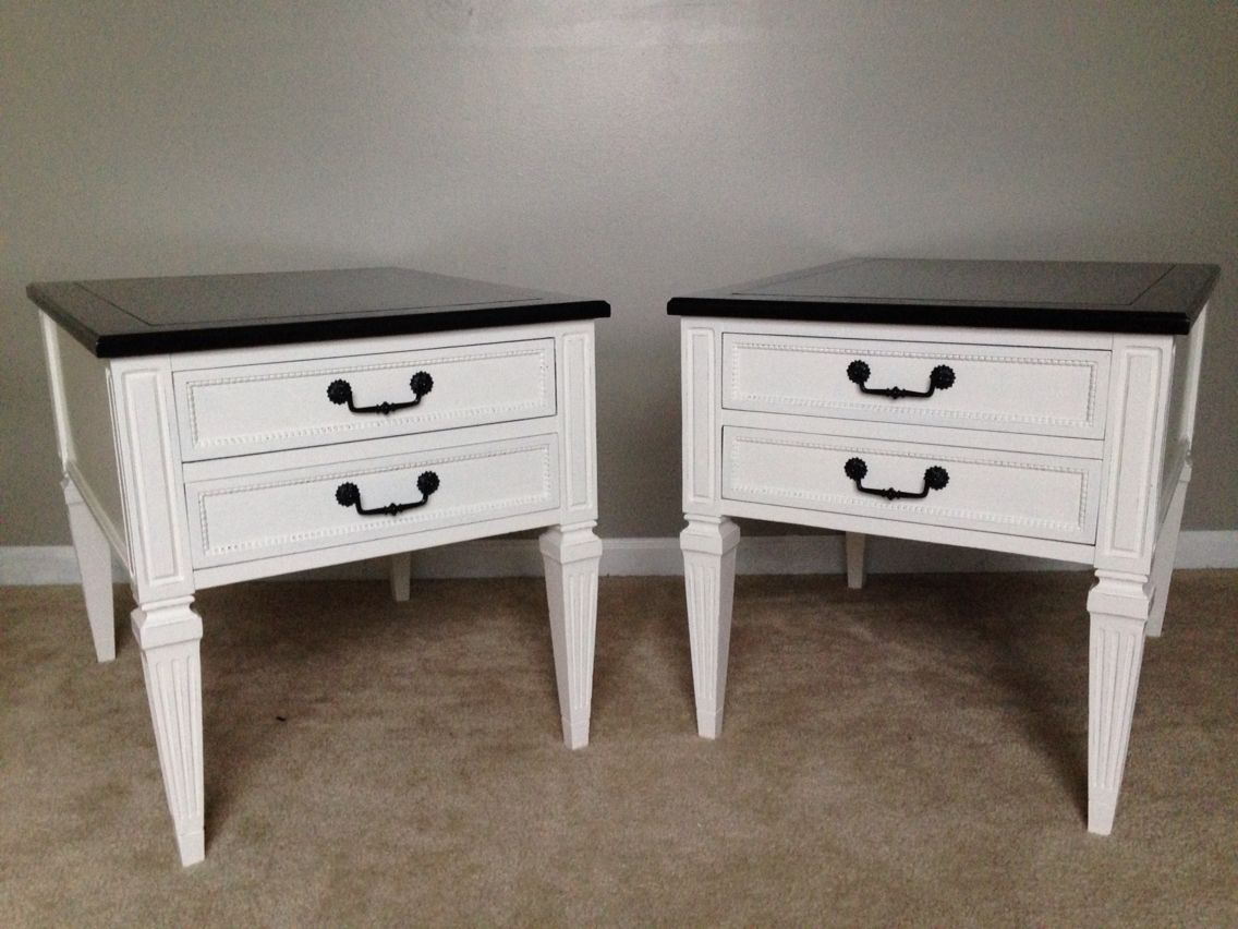Vintage Hammary End Tables Refinished More Redo Furniture